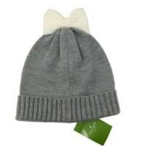 NEW Kate Spade Colorblock Bow Cuff Hat and Gloves